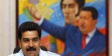 El presidente de Venezuela, Nicolás Maduro, durante una conferencia de prensa en el Palacio de Miraflores, en Caracas, el 15 de noviembre de 2013.