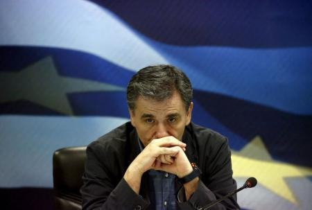 El nuevo ministro de Finanzas de Grecia, Euclides Tsakalotos, en Atenas, jul 6 2015. Tsakalotos el profesor de temperamento apacible que fue nombrado el lunes como nuevo ministro griego de Finanzas, es un cambio evidente de estilo respecto a su combativo predecesor, Yanis Varoufakis.  REUTERS/Yannis Behrakis