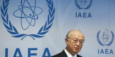 El director general de la OIEA, Yukiya Amano, durante una conferencia de prensa, luego de una reunión en la sede del organismo, en Viena, Austria, 8 de junio de 2015. El regulador nuclear de Naciones Unidas requiere de más dinero para desempeñar sus funciones según un acuerdo para restringir el programa nuclear de Irán, dijo su director general, Yukiya Amano, el martes, estimando un costo anual para la agencia de 9,2 millones de euros (10,63 millones de dólares). REUTERS/Leonhard Foeger/Files