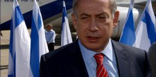 PM Netanyahu at Ben Gurion Airport prior to his departure for Berlin
