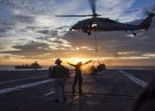 USS Carl Vinson, en aguas coreanas